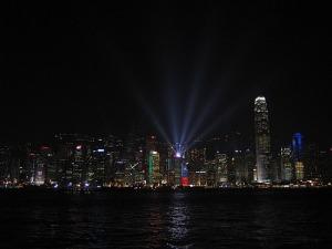 Hong Kong - večerni lightshow (foto: Urša M.)