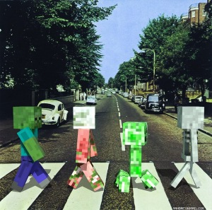 Minecraft creepers - The beatles